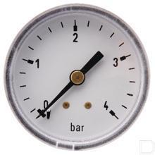 "Manometer Ø50mm 0-4bar 1/4"" achteraansluiting Staal productfoto"