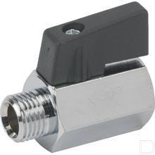 "Mini kogelkraan 1/8"" 0-10 bar productfoto"