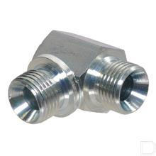 Haakse inschroefkoppeling buitendraad/buitendraad 3/4 BSP RVS316 productfoto