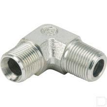 Haakse inschroefkoppeling instelbaar AG 3/8 BSPx3/8 BSPT - 90° productfoto