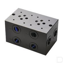 """Voetplaat boring NG6 40L/min 120mm lang 1/2"""" productfoto"""