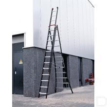 Ladder Nevada 3-delig 14 treden aluminium productfoto