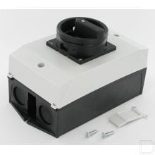 Hoofdschakelaar 3-polig + N 25 A, NOOD-HOLD-functie, Afsluitbaar in 0-stand, Opbouw productfoto