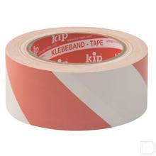 Tape PVC rood/wit 33m productfoto