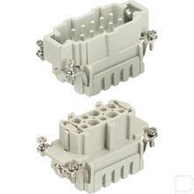 Penconnector Male met dubbele veerklem 10 polig 500V 16A  productfoto