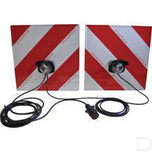 Markeringsbordenset met verlichting en 5 meter kabel productfoto