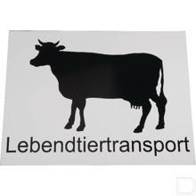 Aanduidingsbord transport levende dieren productfoto