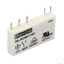 Steekbaar miniatuurelais 1 wisselcontact 12VDC productfoto