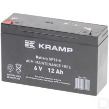 Accu gesloten 6V 12Ah 151x50x94mm bodembevestiging B00 pooluitvoering vlakstekker 6mm productfoto