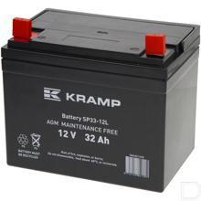 Accu gesloten 12V 32Ah 300A 196x130x180mm bodembevestiging B00 pooluitvoering schroefaansluiting 6mm productfoto
