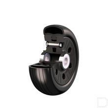 Semi pneumatische wiel met kogel lager Ø200x67mm productfoto