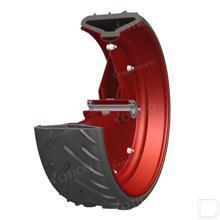 Semi pneumatische wiel met kogel lager Ø500x175mm productfoto