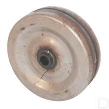 Stalen wiel Ø230x100mm met naaf Ø25mm productfoto