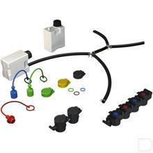 Gekleurde clip zwart productfoto