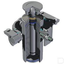 Telescoopcilinder 4-traps Ø45-90mm slag 1174mm productfoto