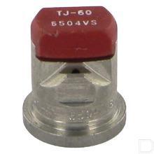 Dubbele spleetdop TJ 65° rood RVS productfoto