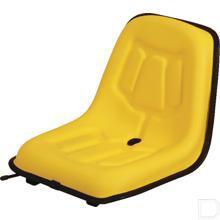 Zitting PVC 380x350mm geel productfoto