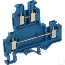 Twee-etageklem 0,2-4mm² 5,2mm, blauw productfoto