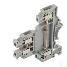 Twee-etageklem 0,2-4mm² 6,2mm, grijs productfoto