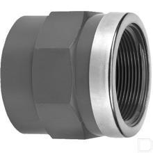 """Adaptermof 63mm x 1.1/2"""" binnendraad PVC-U productfoto"""