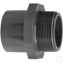 "Adaptermof 32mm x 1"" buitendraad PVC-U productfoto"