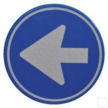 Verkeersbord D02 Ø200mm blauw met witte pijl productfoto
