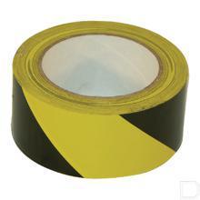 Signaleringstape zelfklevend 50mm zwart/geel productfoto