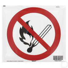 Sticker verbod open vuur Ø200mm  productfoto
