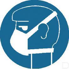 Sticker gebod (lichte) adembescherming Ø100mm productfoto