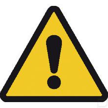 Waarschuwingssticker 100mm gevaar productfoto