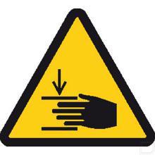 Sticker gevaar handverwonding 100mm productfoto