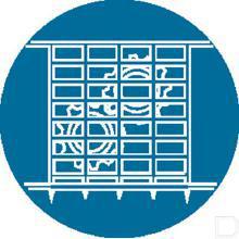 Sticker gebod Ø100mm Afscherming productfoto