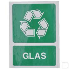 Milieusticker glas 210x297mm productfoto