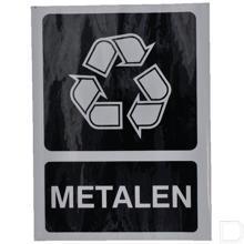 Milieusticker metalen 210x297mm productfoto