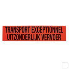 """Bord 1250x300mm """"Transport exceptionnel uitzonderlijk vervoer"""" productfoto"""