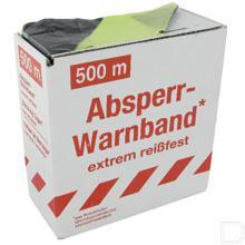 Markeringsband geel/zwart 80mm 500meter productfoto