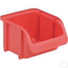 Stapelbak nr.  1 -  85x100x75mm kunststof rood productfoto