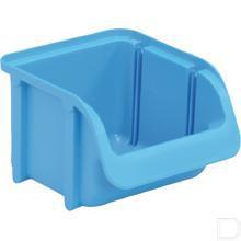 Stapelbak nr.  1 -  85x100x75mm kunststof blauw productfoto