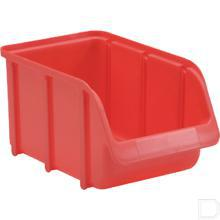 Stapelbak nr.  3 -  210x145x125mm kunststof rood productfoto
