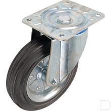 Zwenkwiel 250mm met rubber ring productfoto