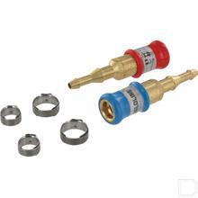 Snelkoppeling set met auto-close 6,3mm en 10mm aansluiting productfoto