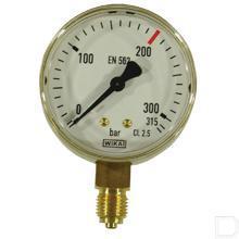 """Manometer Argon 0-315 bar 1/4"""" productfoto"""