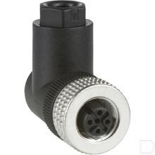 Connector female M12 haaks 4 polig productfoto