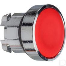 Drukknop rood gearreteerd productfoto