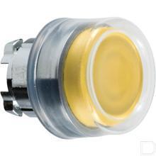Drukknop rubber geel productfoto