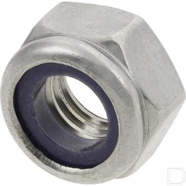 Borgmoer met kunststof ring M12 RVS A2 DIN985 productfoto