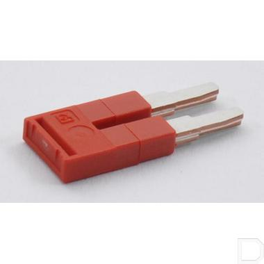 Steekbrug,5,2x22,7x9mm 2 polig rood productfoto