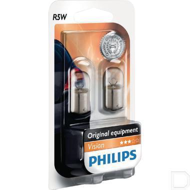 Gloeilamp 12V 5W R5W BA15s  productfoto