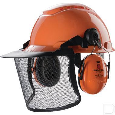 Veiligheidshelm met gehoorbescherming en gaasvizier H700 productfoto