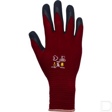 Kinderhandschoen tricot 8-11 jaar rood / zwart productfoto